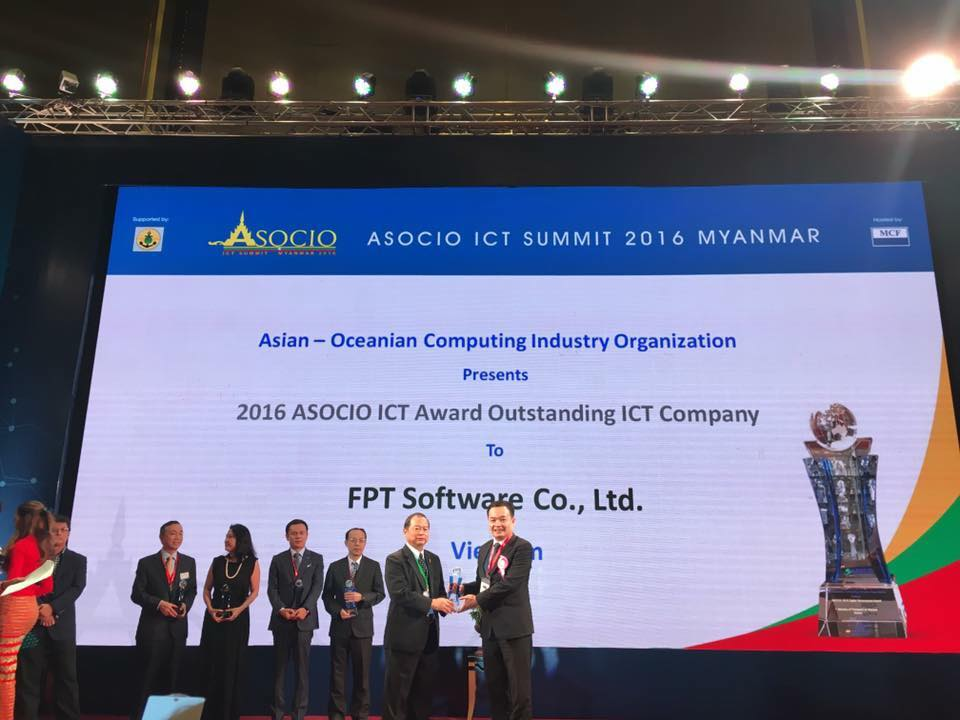 FPT Software recognized as 2016 ASOCIO Outstanding ICT Company